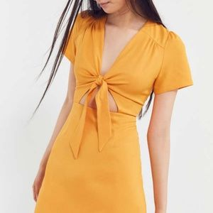 Never worn mustard yellow cut out dress